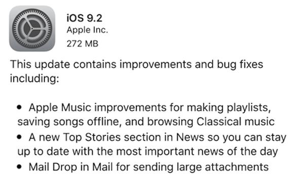 10 ฟีเจอร์เด่นที่น่าสนใจของ iOS 9.2 มีอะไรบ้าง