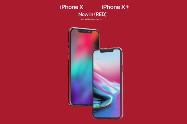 iPhone X และ iPhone X+ (PRODUCT)RED