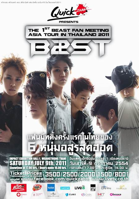 The 1st Beast Fan Meeting Asia Tour In Thailand 2011