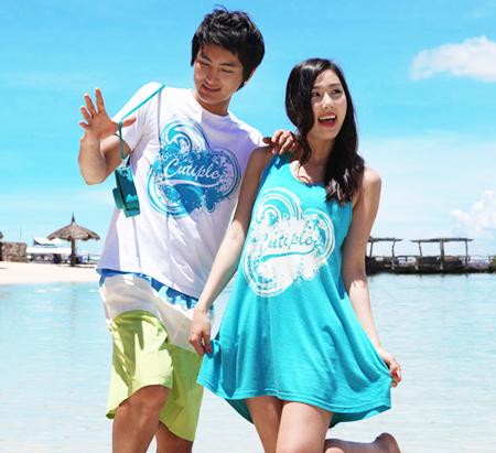 ชุดเที่ยวทะเล แบบคู่รัก