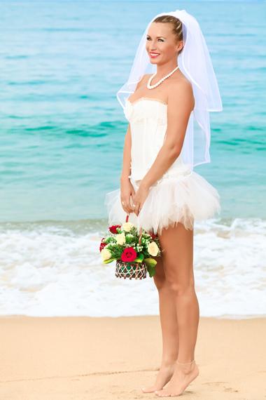 ชุดแต่งงานแบบสั้น