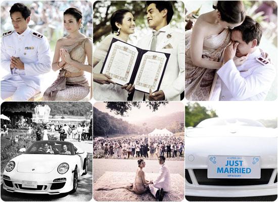 บรรยากาศแห่งความรัก งานแต่งงานแอฟ-สงกรานต์