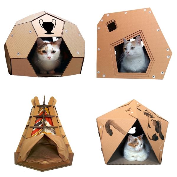 รีไซเคิลกระดาษลังเป็นบ้านแมวเก๋ ๆ ที่เหมียวเห็นแล้วปิ๊งเลย !