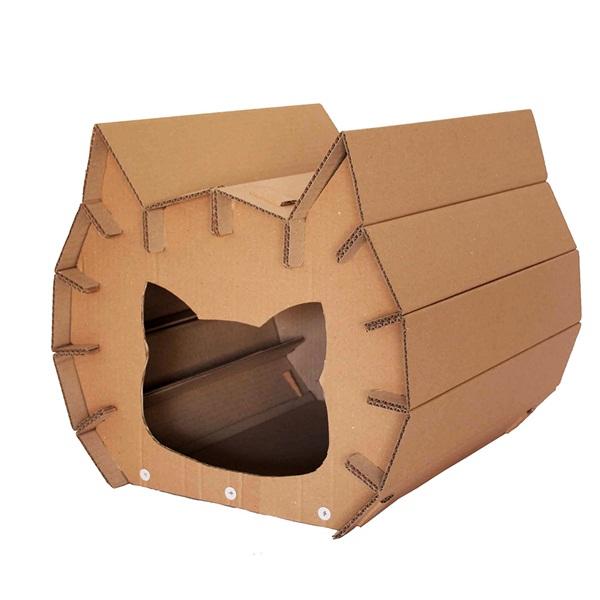รีไซเคิลกระดาษลังเป็นบ้านแมวเก๋ ๆ ที่เหมียวเห็นแล้วปิ๊งเลย