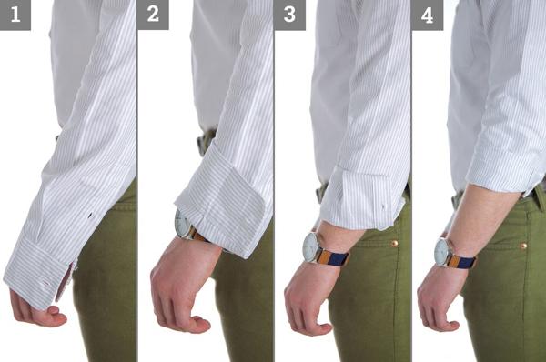 วิธีพับแขนเสื้อผู้ชาย