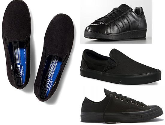 รองเท้าสีดำแบบสุภาพ