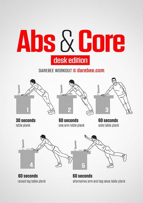 ออกกำลังกาย โต๊ะทำงาน