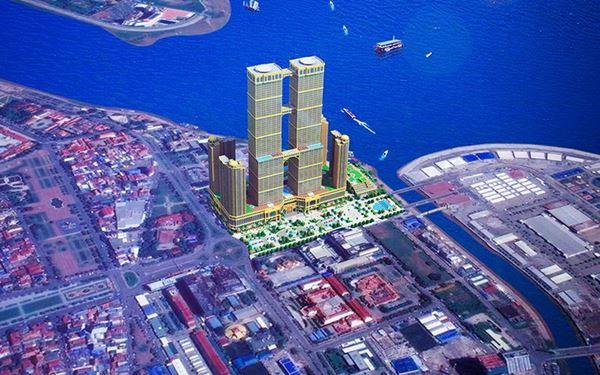 จีนจ่อสร้างอาคารแฝดสูงที่สุดในโลกริมแม่น้ำโขง ในกัมพูชา มูลค่า ...