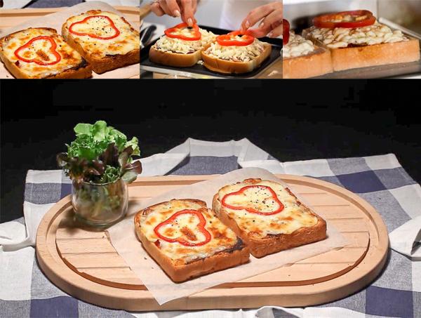 เมนูพิซซ่าขนมปัง - Garage ntk.fang