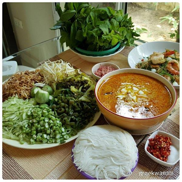 7 สูตรทำขนมจีนน้ำยากะทิ