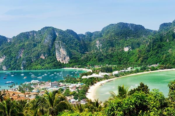 สถานที่ท่องเที่ยวหมู่เกาะพีพี