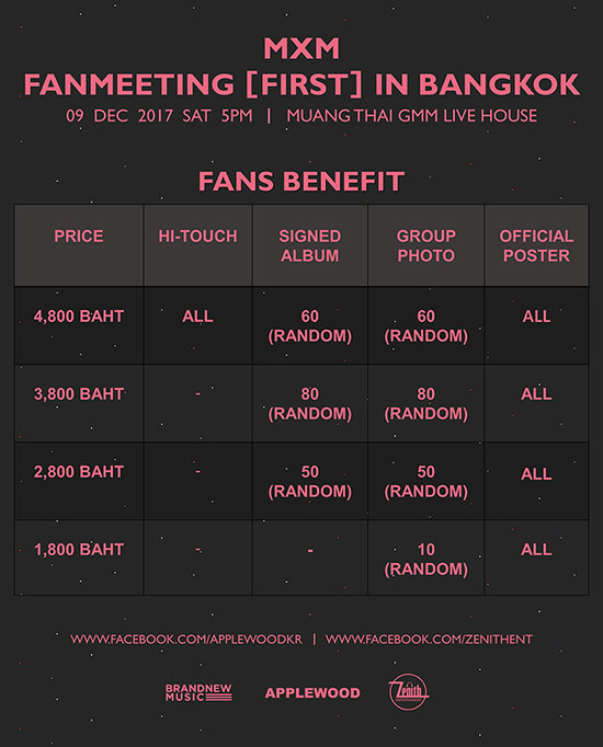 MXM Fanmeeting First in Bangkok