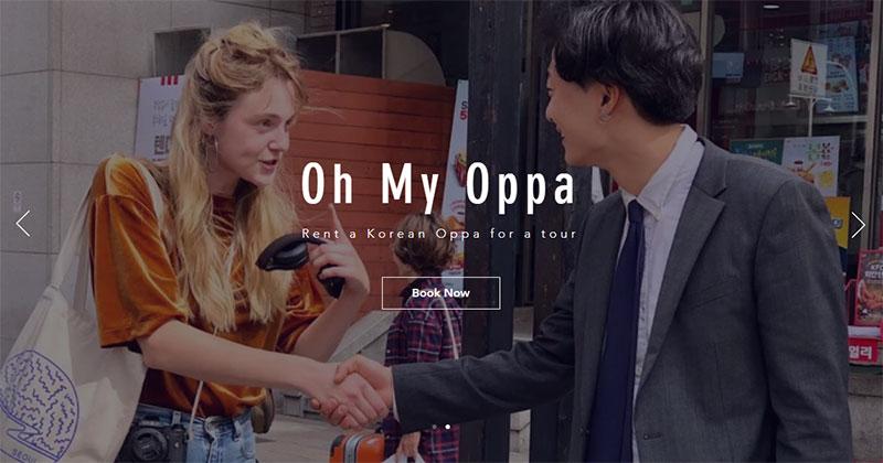 ไปเกาหลีไม่มีเหงา ผุดบริการ Oh My Oppa ให้เช่าโอปป้า พาสาวเที่ยวตัวต่อตัว