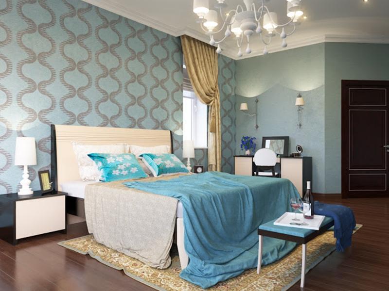 แต่งห้องนอนสีฟ้า