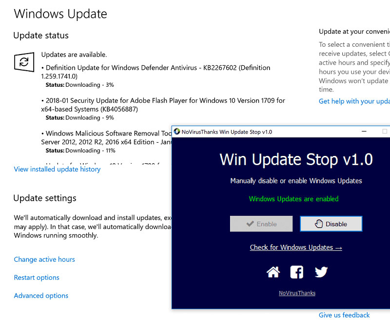 วิธีปิดอัปเดต Windows 10