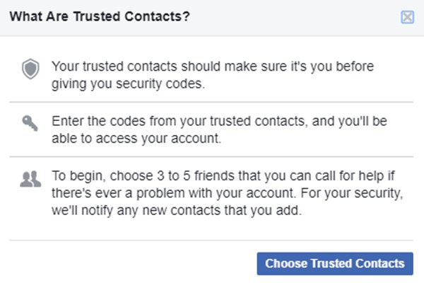 วิธีใช้ Facebook Trusted Contacts