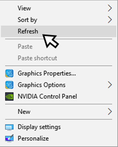 Refresh หน้า Desktop คอมพิวเตอร์