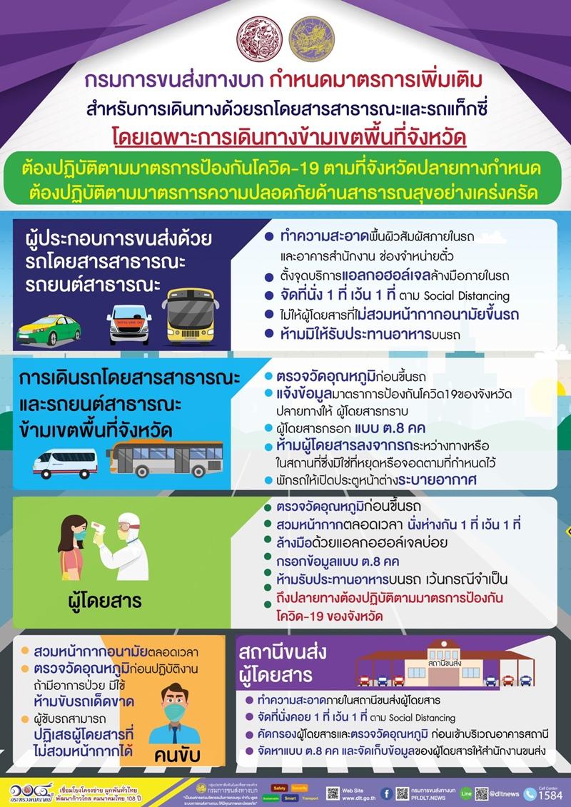 มาตรการเดินทางโดยรถสาธารณะ