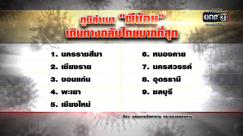 9 จังหวัด ผีน้อยกลับไทย
