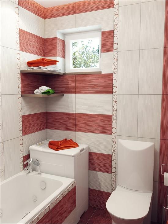 ตัวอย่างห้องน้ำเล็กเก๋ ๆ มีอ่างอาบน้ำ