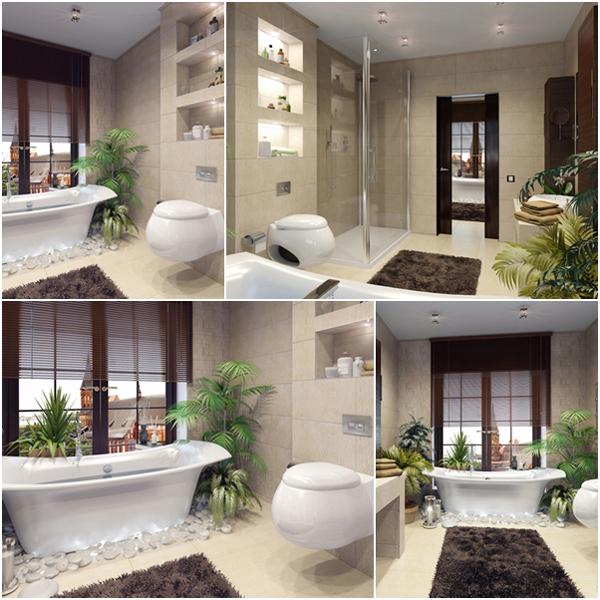 ห้องน้ำสวย สไตล์รีสอร์ท