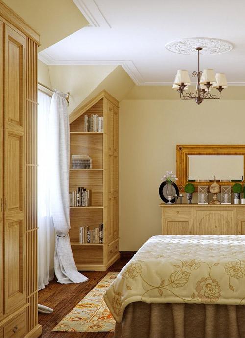 ห้องนอนสวย ๆ สีเบจ อบอุ่นสไตล์คันทรี