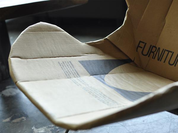 รีไซเคิลกล่องกระดาษ เป็นเก้าอี้สุดเท่