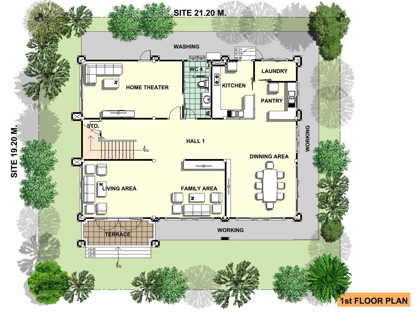 แบบบ้านโมเดิร์น บ้านสไตล์โมเดิร์น สวย ทันสมั