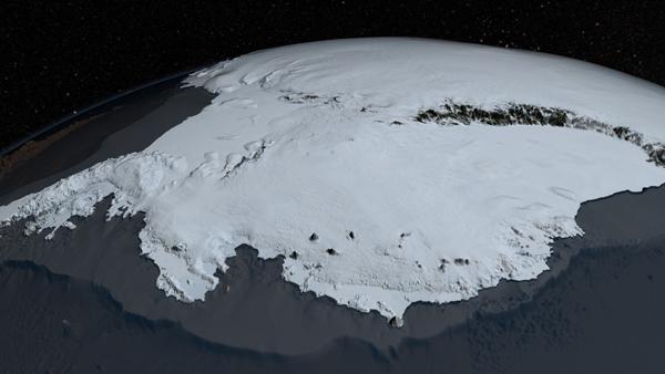 ภาพทวีปแอนตาร์กติกา ในวันที่ไร้น้ำแข็ง