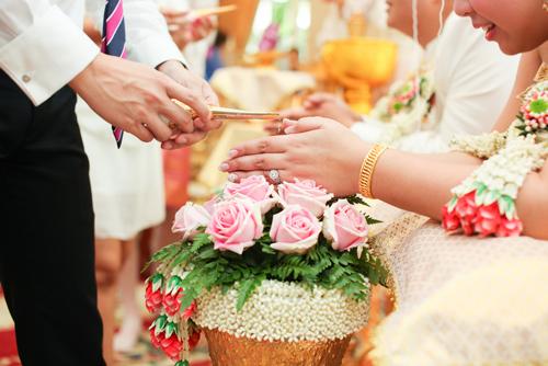 พิธีแต่งงานแบบจีนผสมไทย