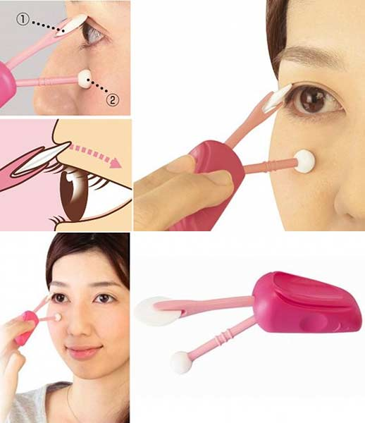 Futae Compass Make-up Eyelid Brush - Cosmetic eye lid eyeliner support set