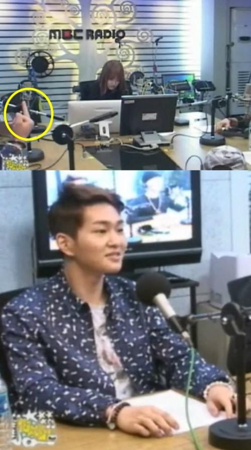 อนยู SHINee โชว์นิ้วกลางระหว่างถ่ายรายการ