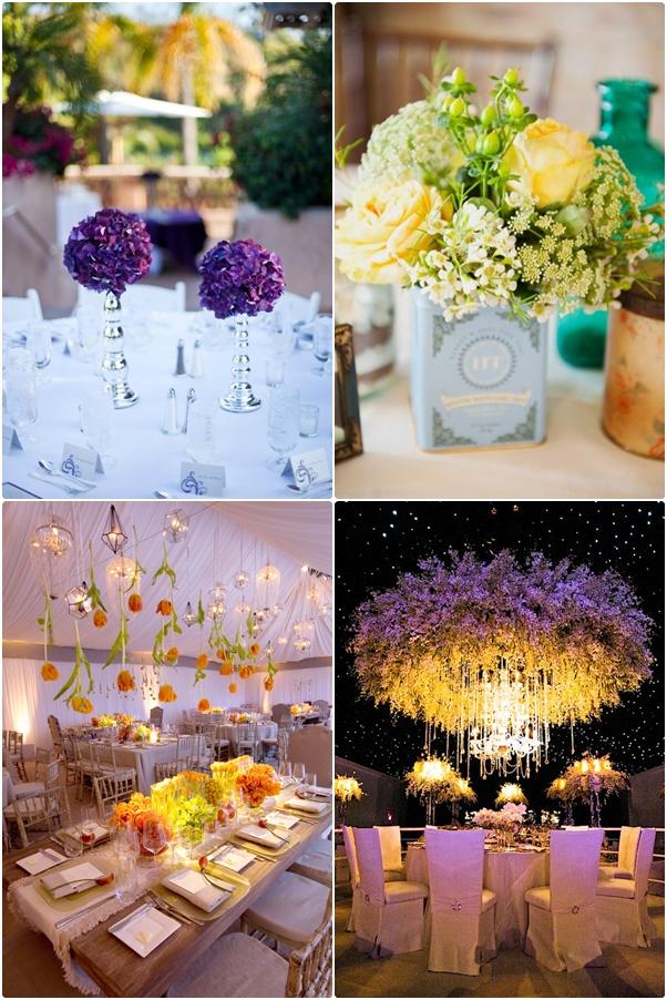 การจัดดอกไม้รอบบริเวณงานแต่ง