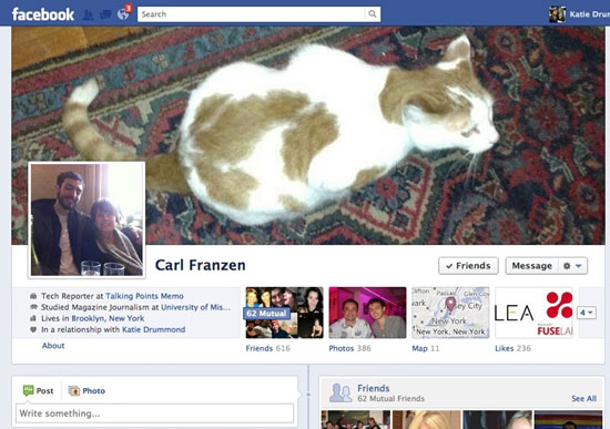 เฟซบุ๊กเริ่มทดสอบ Facebook Timeline แบบใหม่