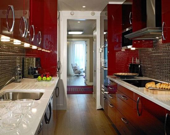 25 ห้องครัวสีแดงดึงดูดสายตา
