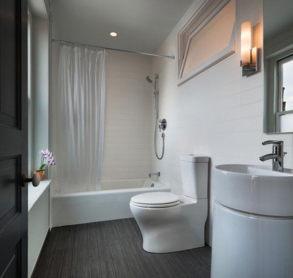45 ห้องน้ำสีขาวสวยเรียบง่าย