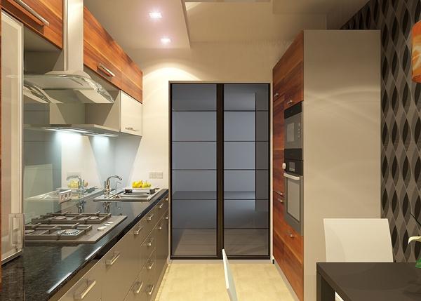 ห้องครัวสีดำสุดเท่ กับผนังลายกราฟิกไม่ซ้ำใคร