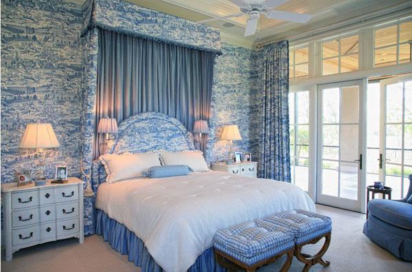 Blue Toile Bedroom Ideas: ���บบห้องนอน ���ต่งห้องนอน ���้องสีฟ้า 50 ���้องนอนสีฟ้าสวยชวนเคลิ้ม
