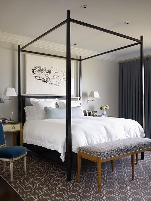 25 เตียงสี่เสาสไตล์โรมัน ความสวยหรูที่คู่ควร