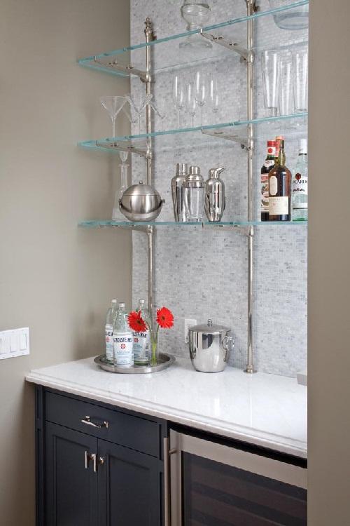 ห้องครัววินเทจสีน้ำเงิน-ขาว สวยคลาสสิค