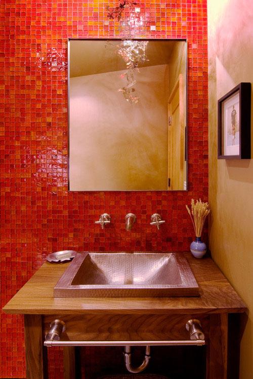 20 ห้องน้ำสีแดงถึงแรงแต่ก็เริ่ด