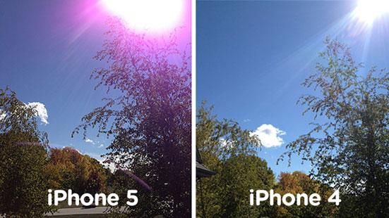 ผู้ใช้โวย ไอโฟน 5 ถ่ายรูปใกล้แสง มีแสงฟุ้งสีม่วง