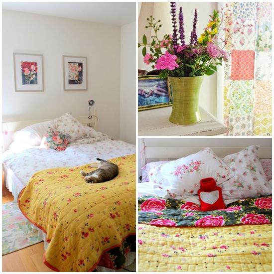 ห้องนอนลายดอกไม้ สุดหวานแหวว