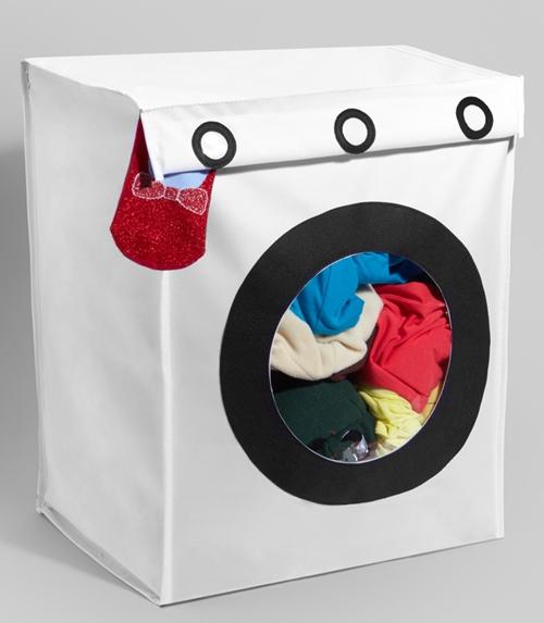 กล่องผ้ายักษ์รูปเครื่องซักผ้า ให้รู้ว่าถึงเวลาต้องซัก