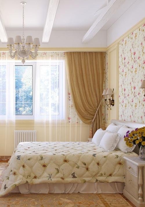 ห้องนอนลายดอกไม้ สวยหวาน แบบอิงลิชคอทเทจ