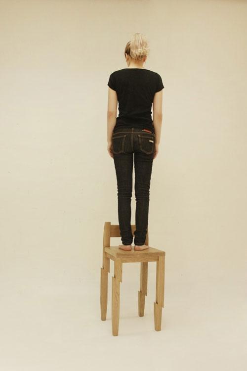 เก้าอี้เก๋ๆ เก้าอี้ซามูไร เหมือนถูกฟันขาดครึ่งท่อน