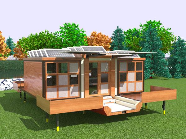 บ้านคอนเทนเนอร์รักษ์โลก เปลี่ยนรูปทรงได้