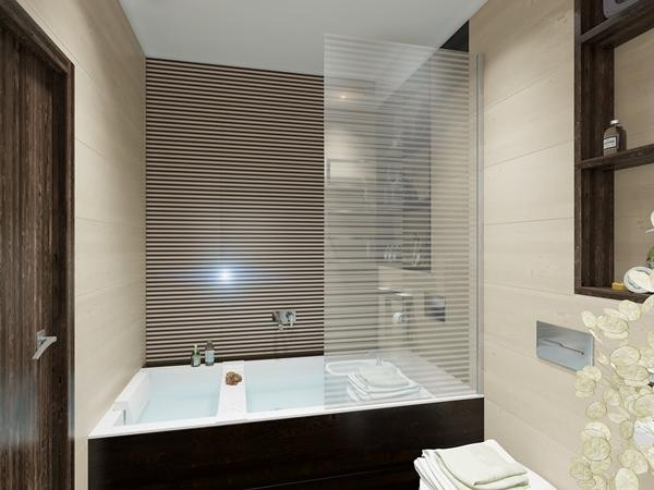 ห้องน้ำขนาดเล็ก ตกแต่งด้วยไม้