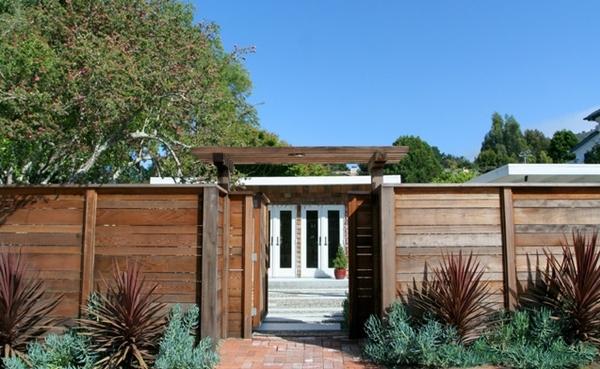 แบบรั้วบ้าน แบบรั้วไม้