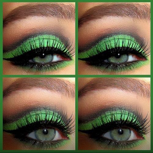 แต่งตาโทนเขียว